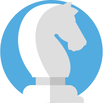 Cavallo sfondo azzurro